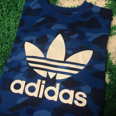 Adidas X Bape Camo Shirt Blue Size Medium