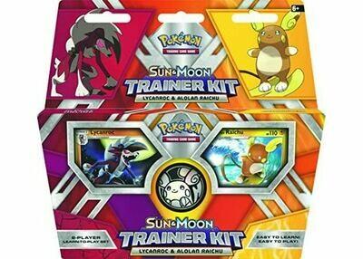 2017 Pokemon TCG Sun & Moon Trainer Kit Lycanroc & Alolan Raichu