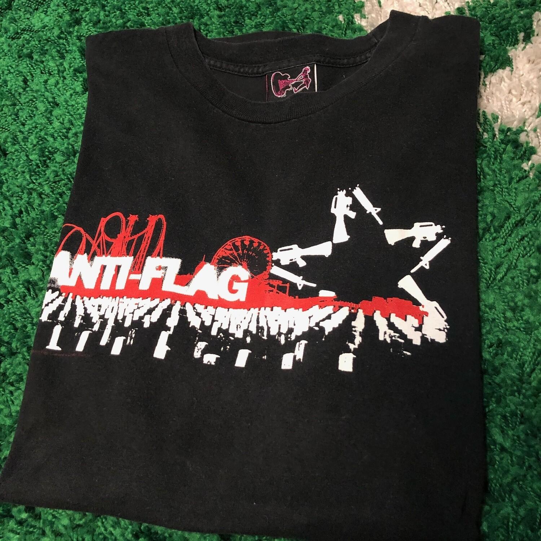 Anti-Flag Tee Black Size Large