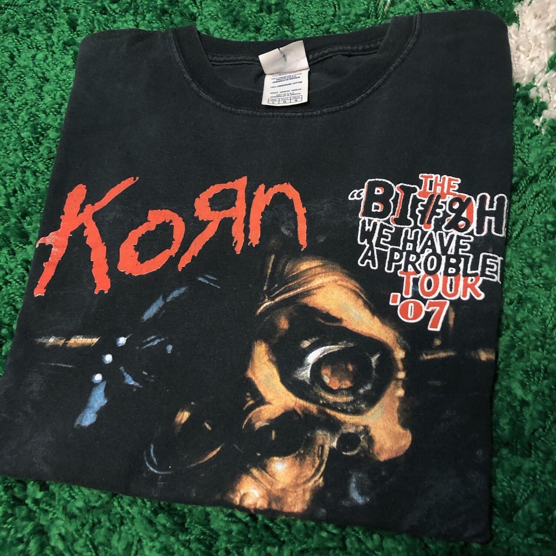 Korn We have a problem tour 2007 Shirt Size Large