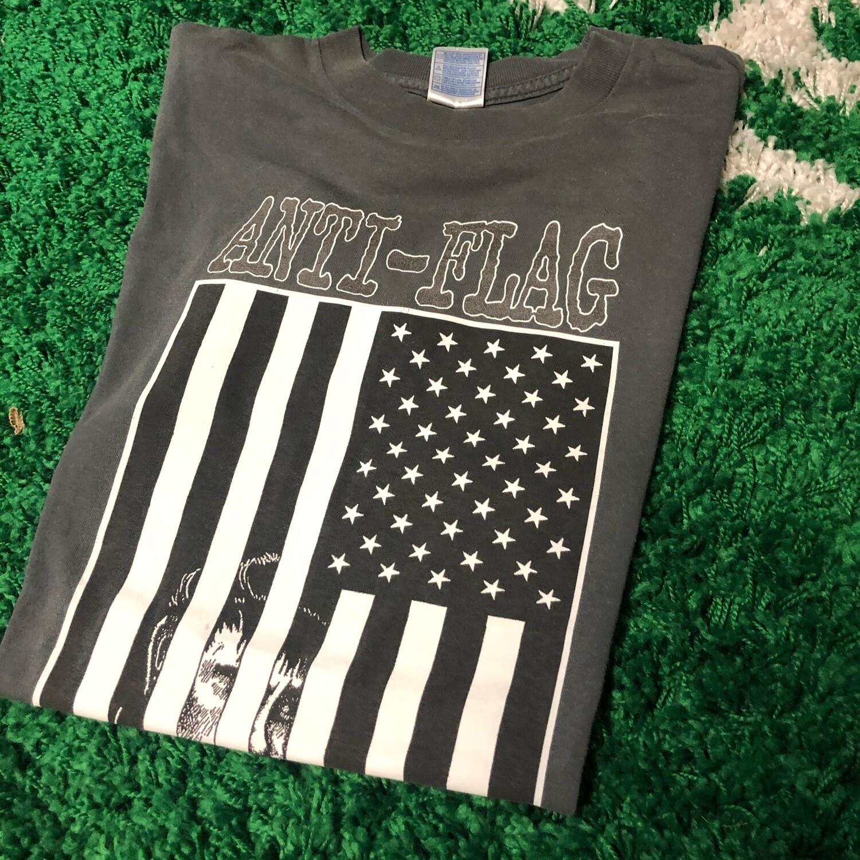 Anti-Flag American Flag Shirt 2003 Size Medium