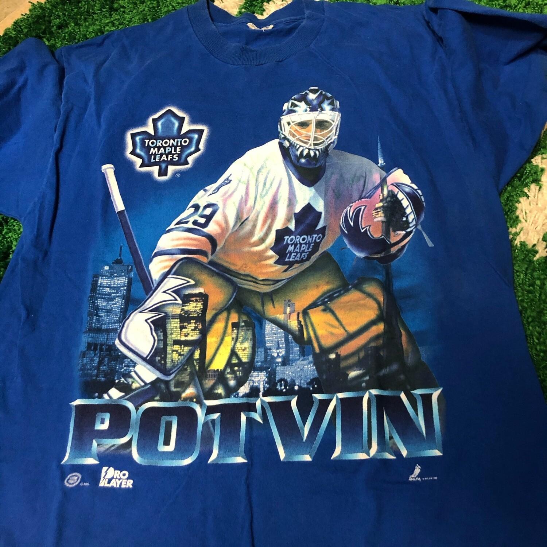 Toronto Maple Leafs Potvin Tee Size Large