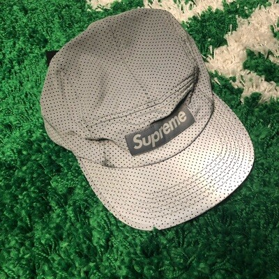 Supreme Reflective Speckled Camp Cap Grey