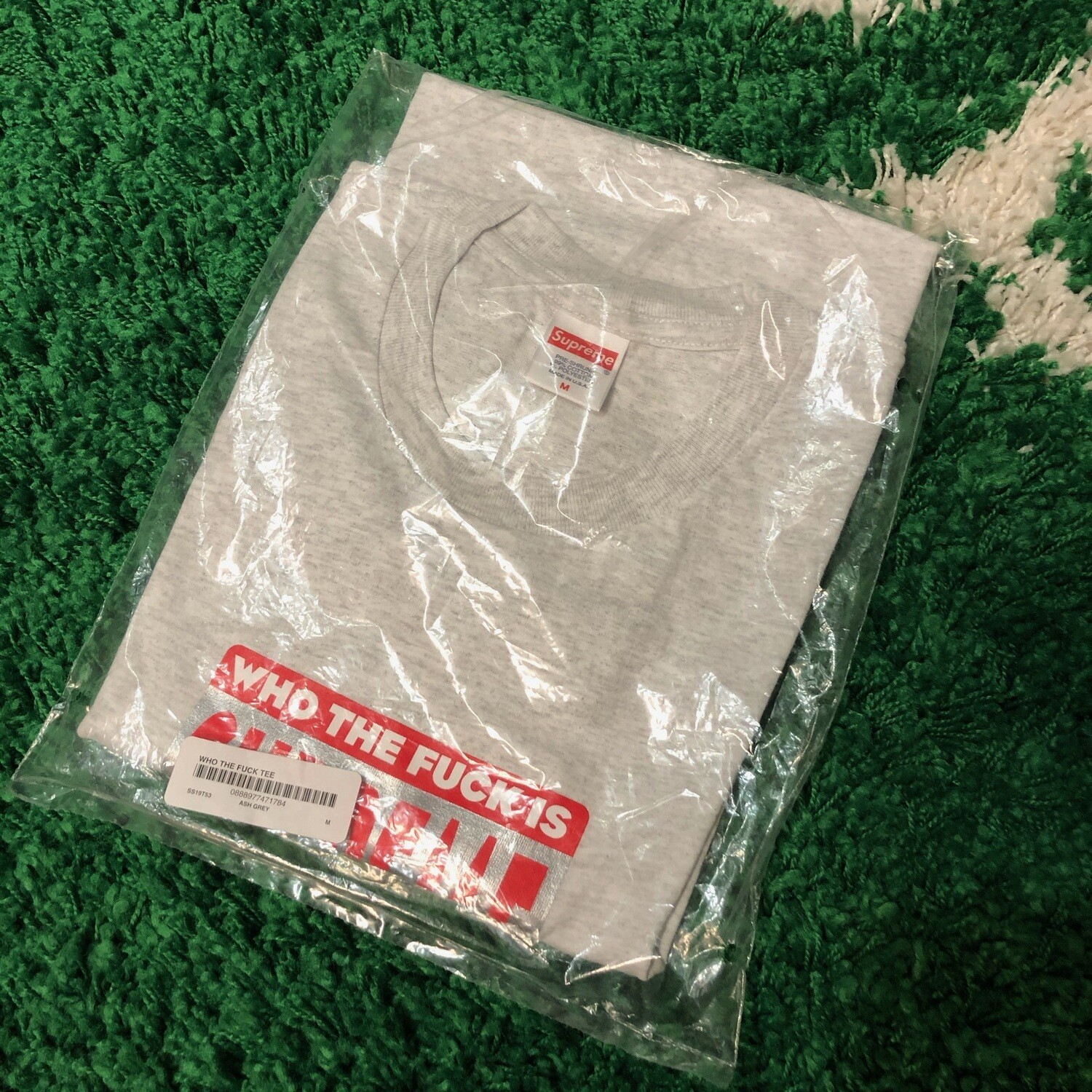 Supreme Who The F Tee Grey Size Medium