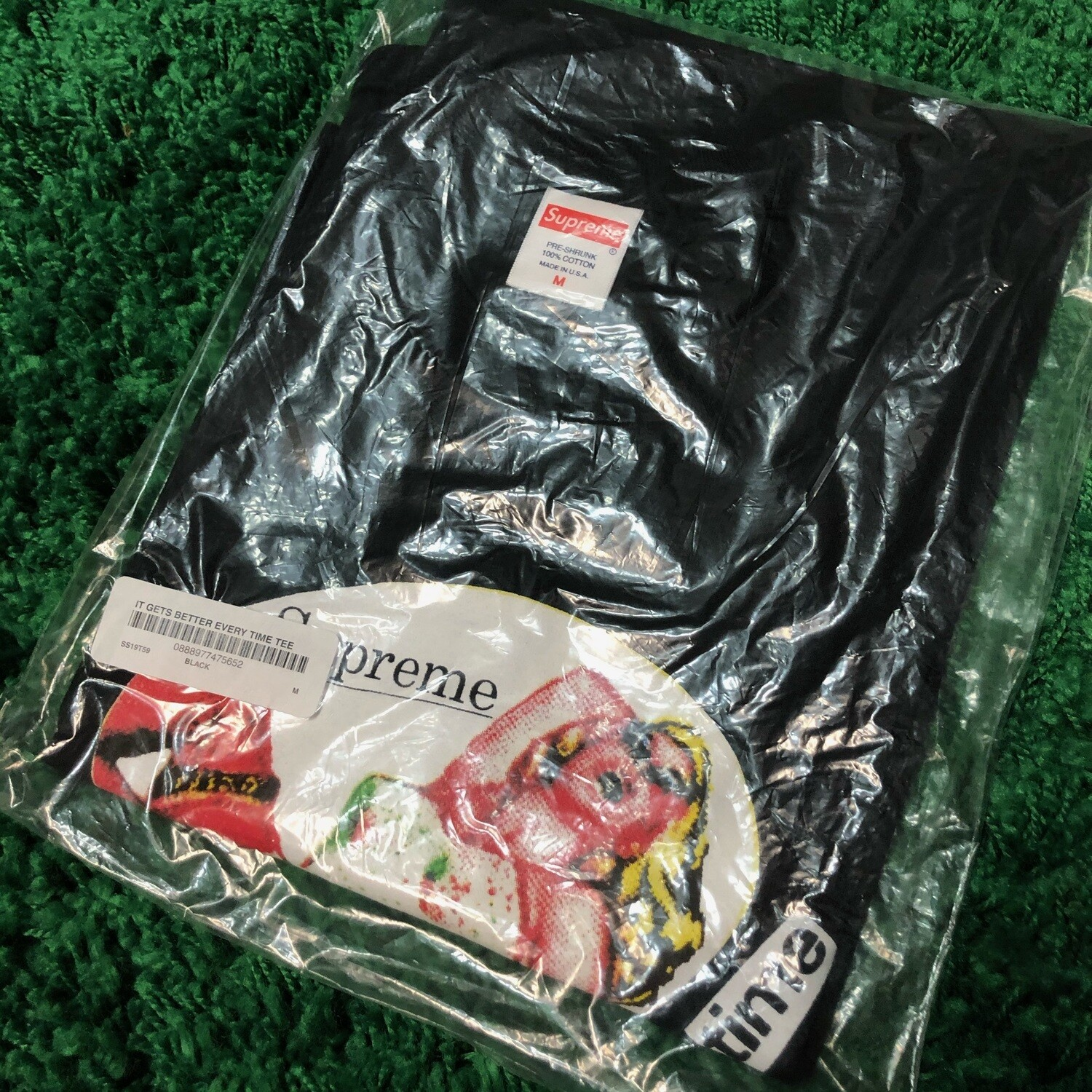 Supreme It Gets Better Every Time Tee Black Size Medium