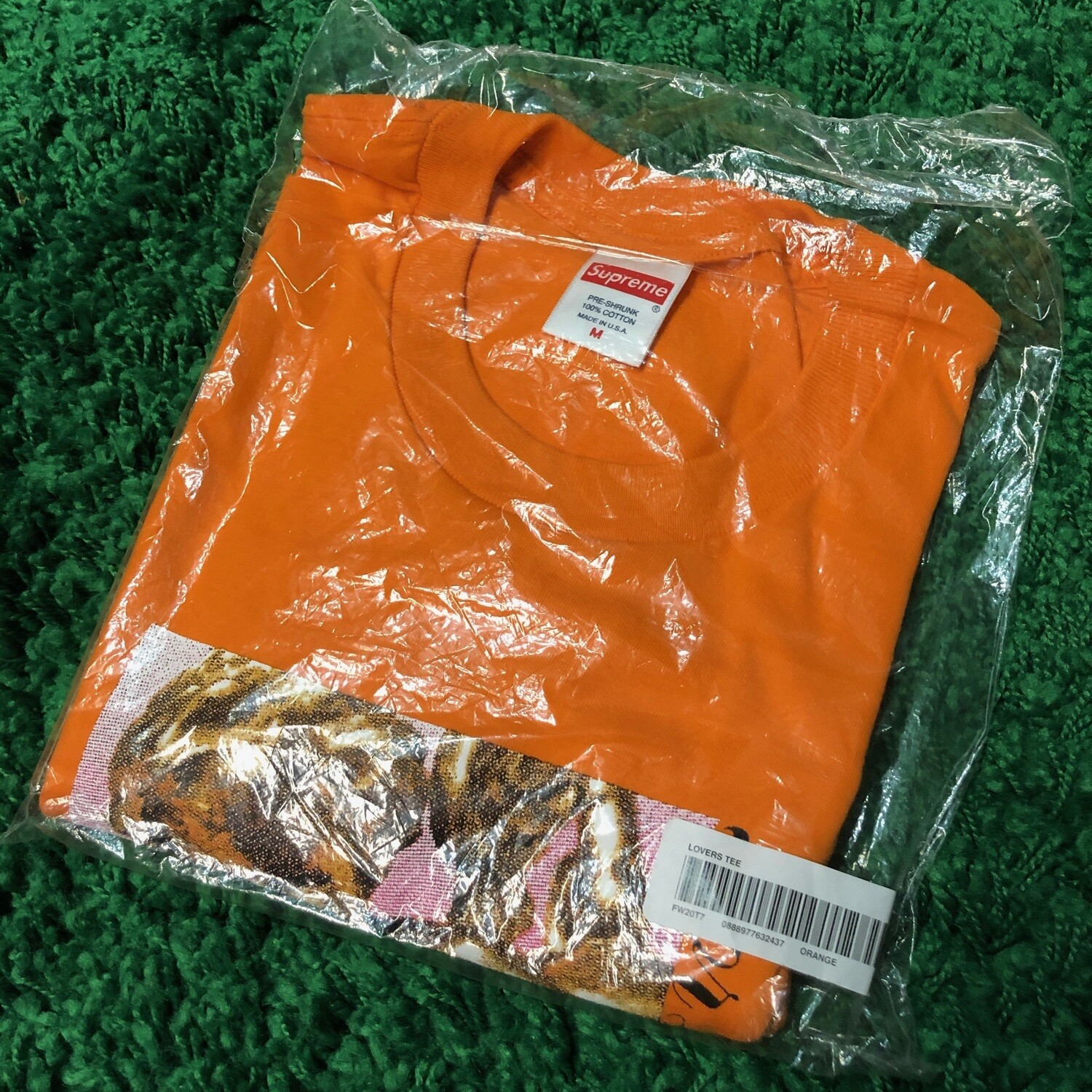Supreme Lovers Tee Orange Size Medium