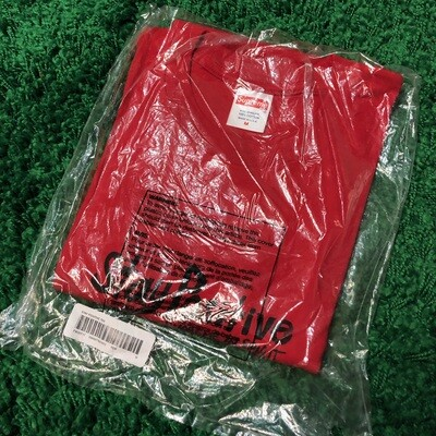 Supreme Stay Positive Tee Red Size Medium