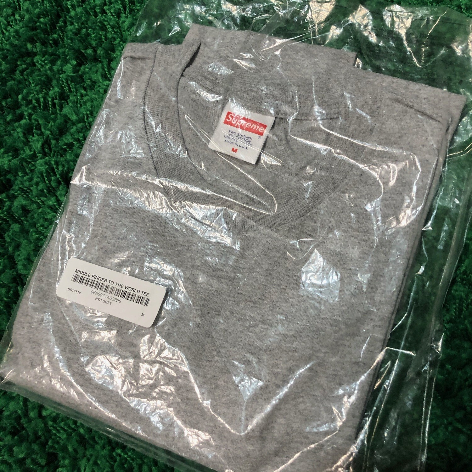 Supreme Middle Finger to the World Tee Grey Size Medium