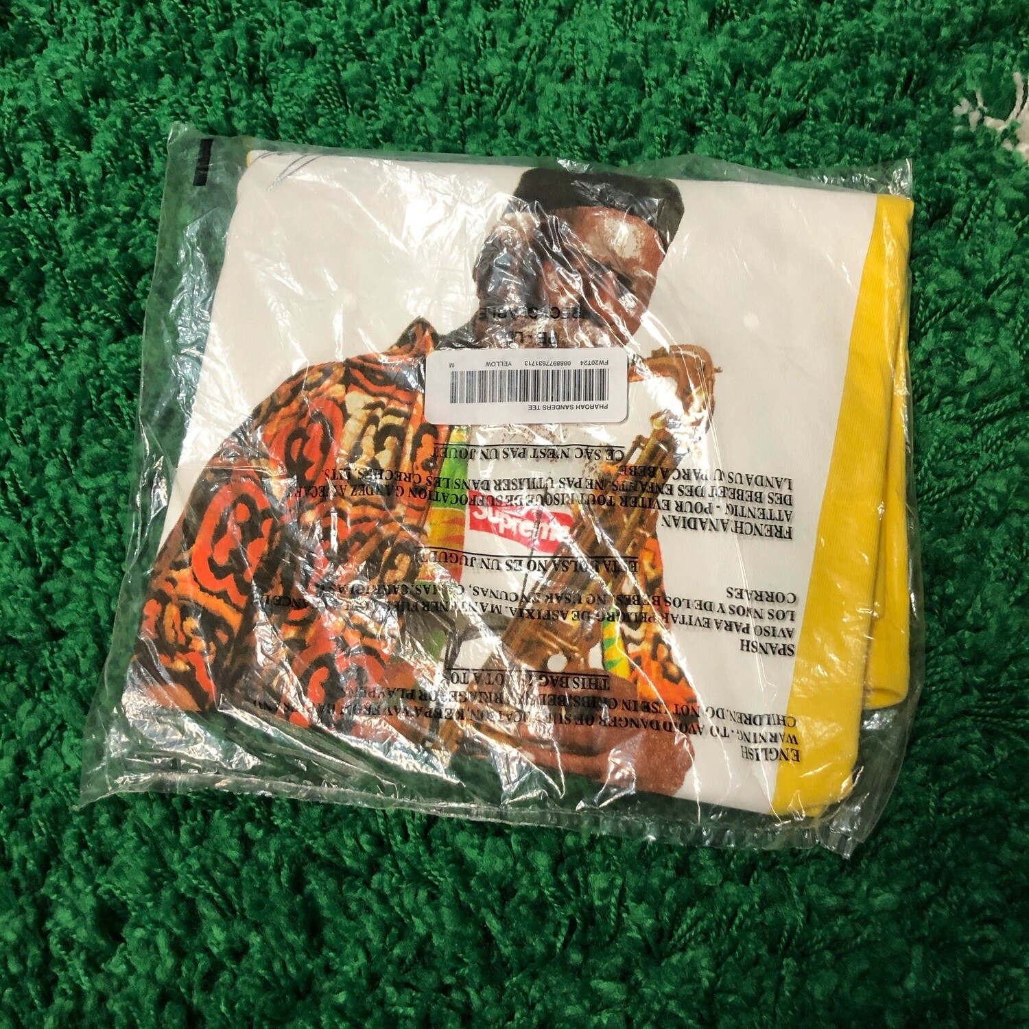 Supreme Pharoah Sanders Tee Yellow Size Medium