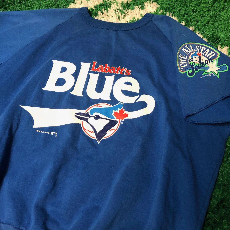 Toronto Blue Jays Labatt's Blue Sweater Tee Size Medium