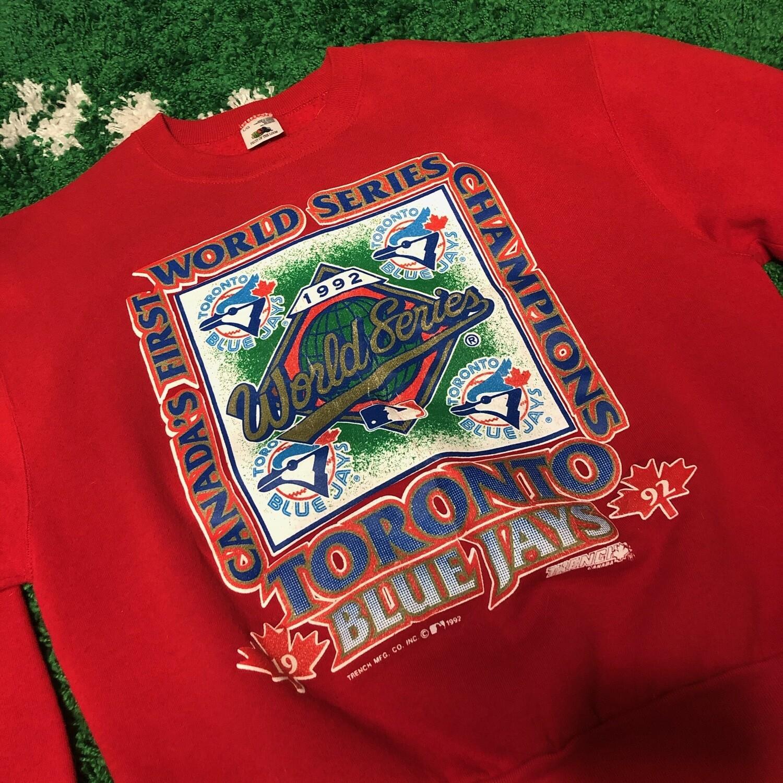 Toronto Blue Jays Red 1992 Sweater Size Large