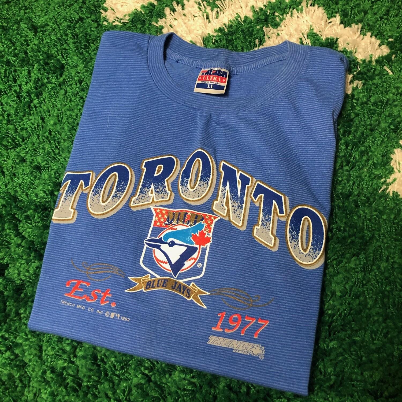 Toronto Blue Jays Blue Stripe Shirt Size XL