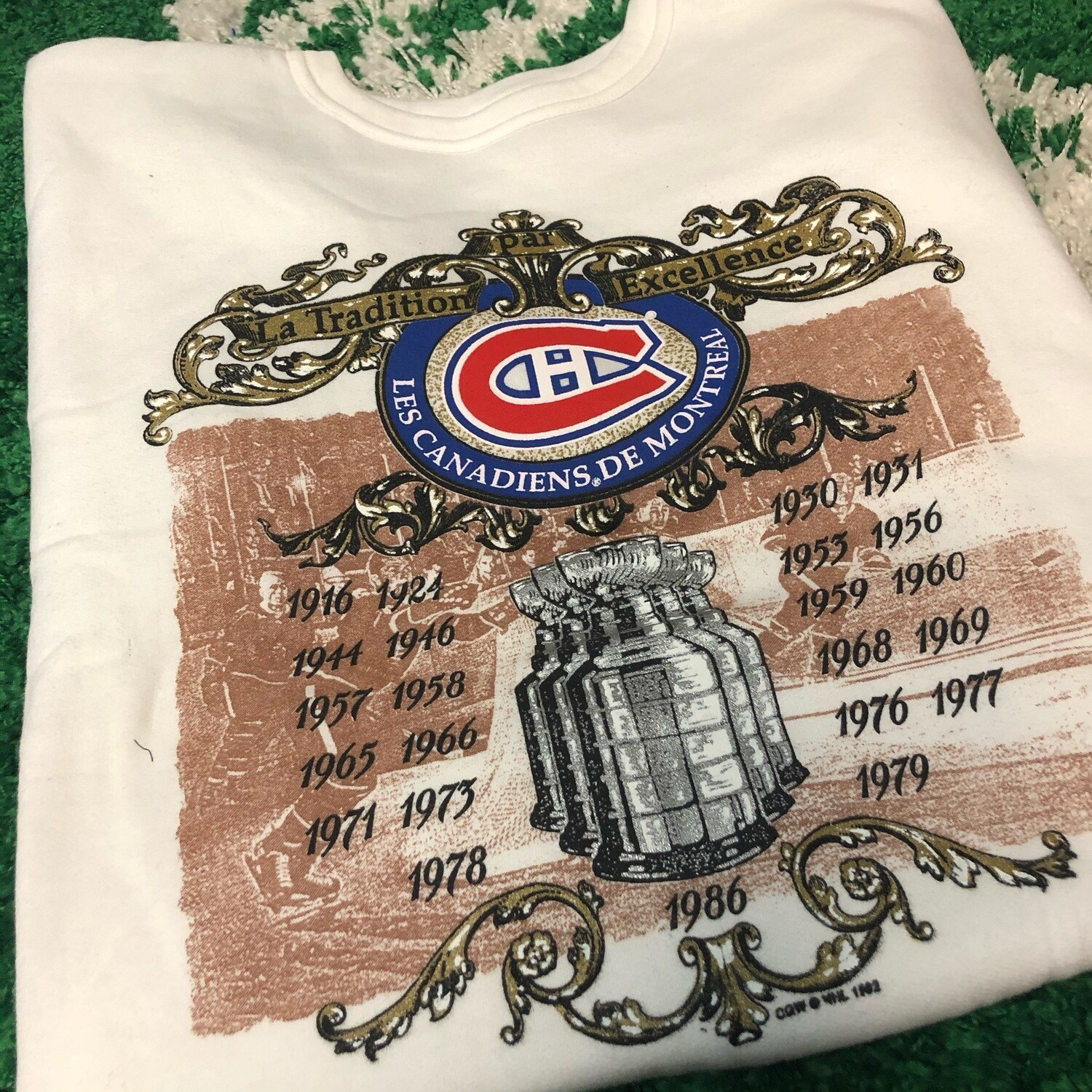Montreal Canadiens Sweater White Size Large