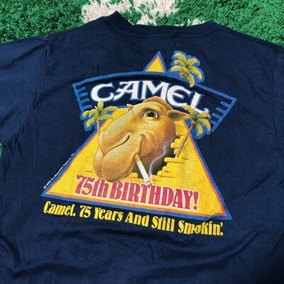Camel 75th Birthday 1988 Tee Size Large