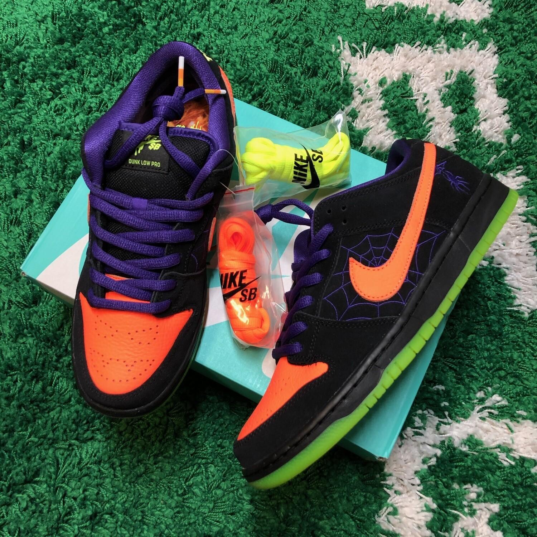Nike SB Dunk Low Night of Mischief Halloween Size 9