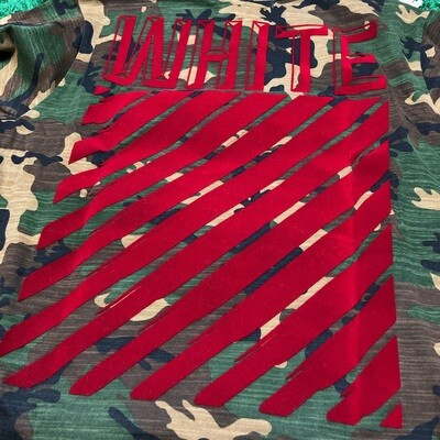 Off-White Camo Tee Size Large