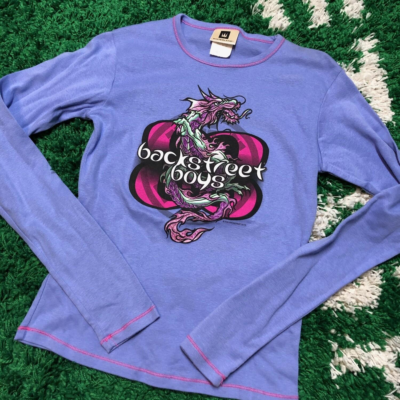 Backstreet Boys Longsleeve Purple Dragon Womens Size Medium