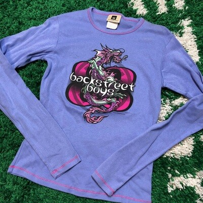 Backstreet Boys Longsleeve Purple Dragon Womens Size Medium