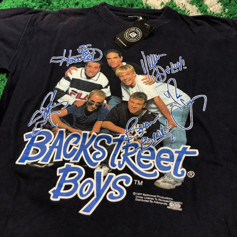 Backstreet Boys 1997 Signature Tee Size Large
