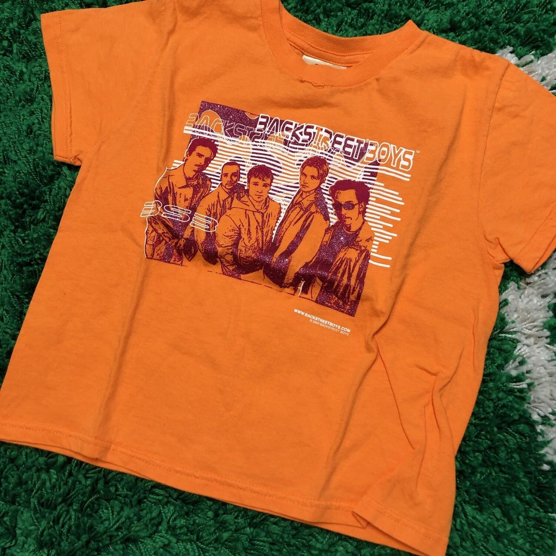 Backstreet Boys Orange Tee Girls Size Medium