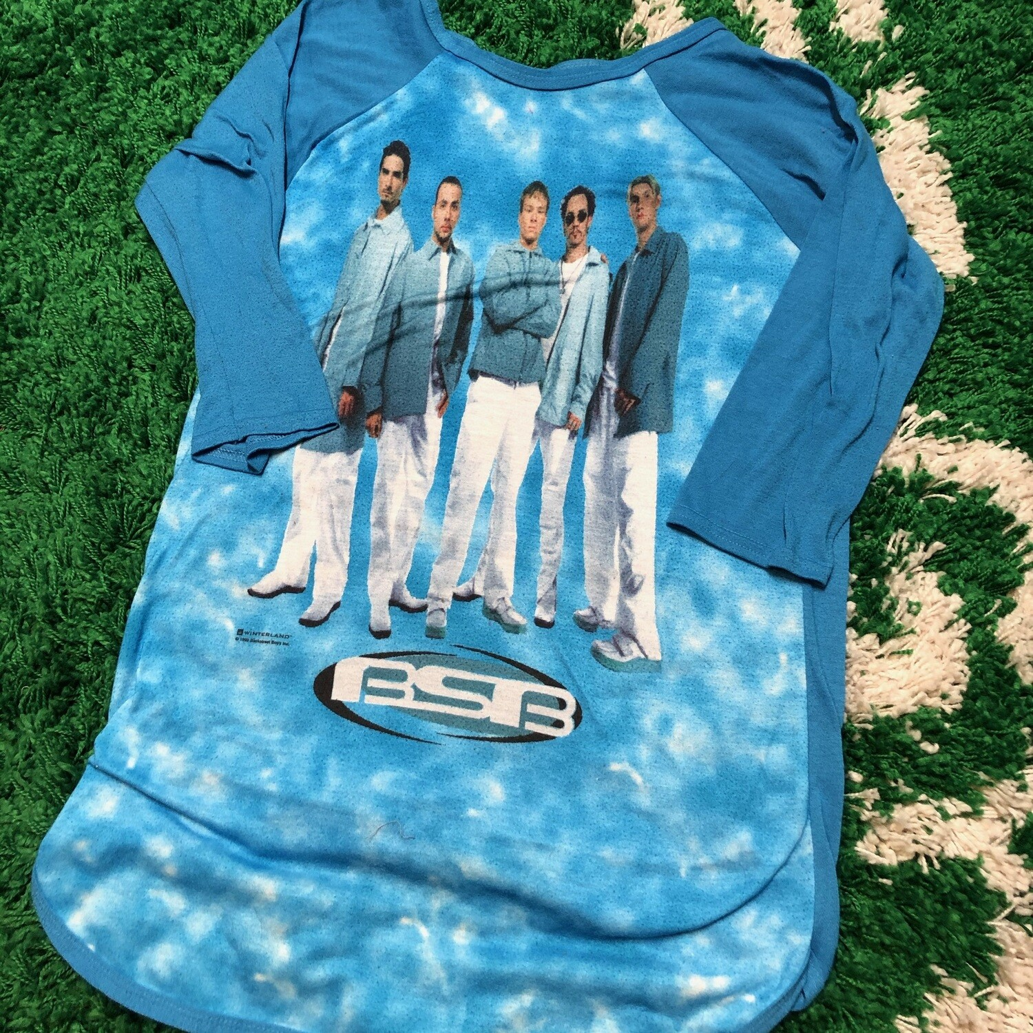 Backstreet Boys Long Sleeve Blue Womens Size Large