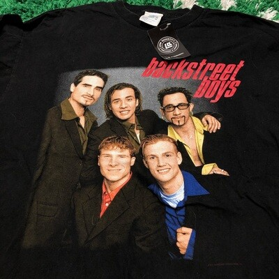 Backstreet Boys Portriat Tee Black Size XL
