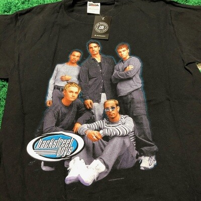 Backstreet Boys Black 1999 Tee Size Large