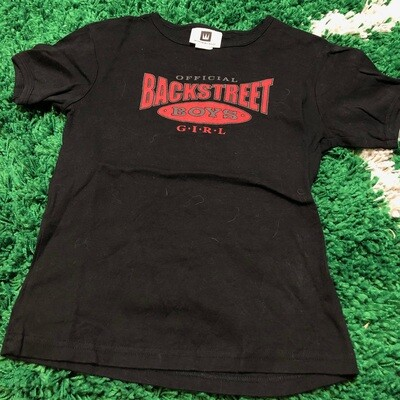 Backstreet Boys Black Tee Girls Size Medium