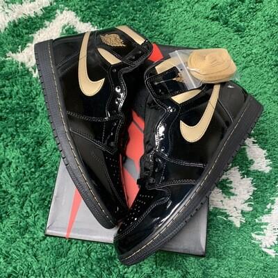 Jordan 1 Retro High Black Metallic Gold Size 11.5