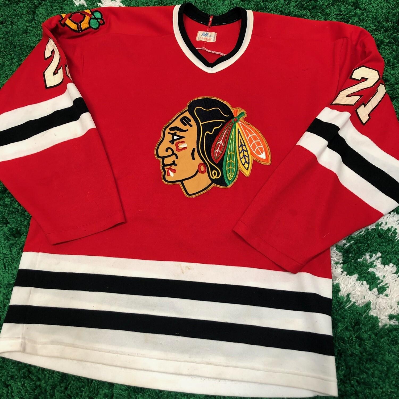Chicago Black Hawks 70's Jersey Size Medium