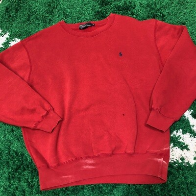 Polo Sweater Red Size Medium