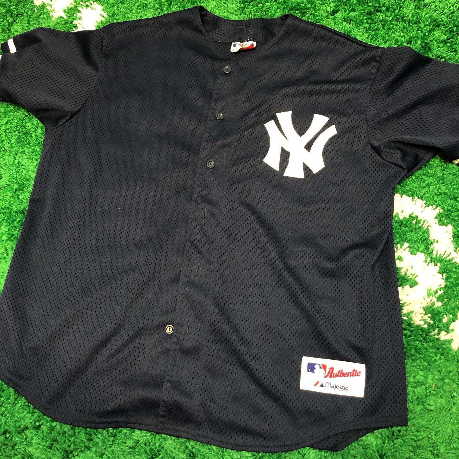 New York Yankees Jersey Blue Size Large