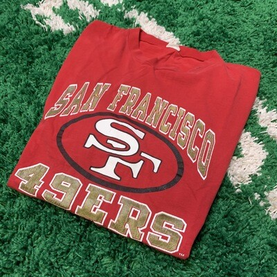 San Francisco 49ers Red Tee Size XL