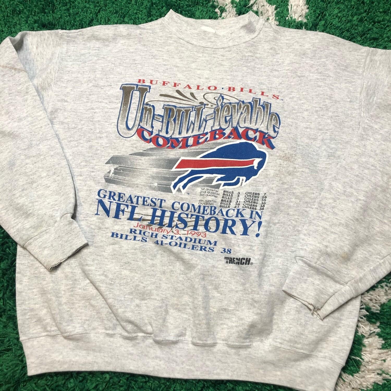 Buffalo Bills Un-Bill-ievable Sweater Size Large