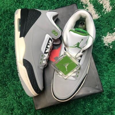 Nike Air Jordan 3 Retro Chlorophyll Size 9