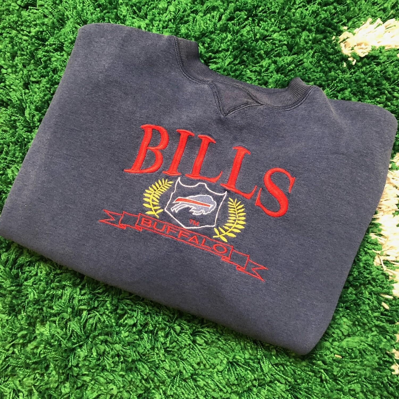 Buffalo Bills Navy Stitched Sweater Size Large