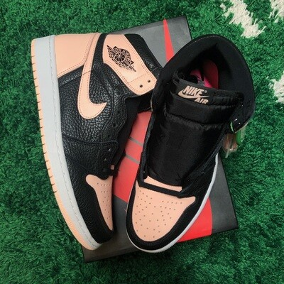 Nike Air Jordan 1 Retro High Black Crimson Tint Size 9
