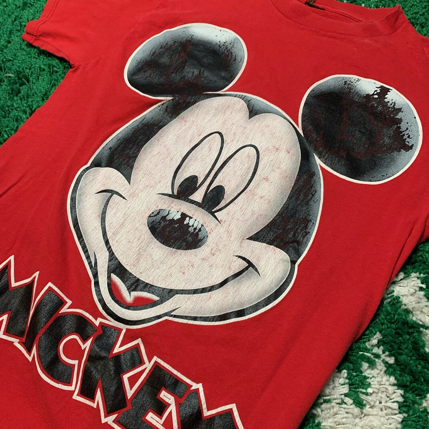 Mickey Mouse Big Print Tee Red Size Large