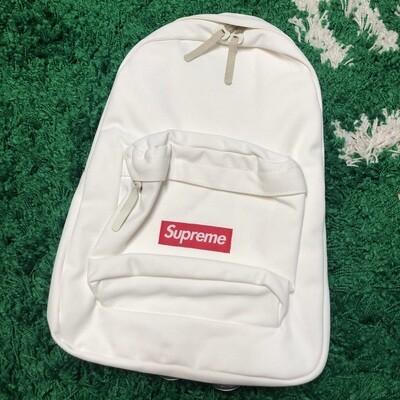 Supreme Canvas Backpack White