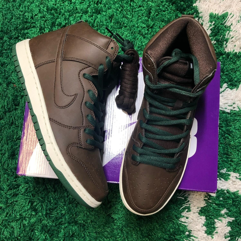 Nike SB Dunk High Baroque Brown Vegan Leather Size 11