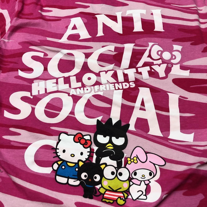 Anti Social Social Club Hello Kitty Camo Shirt Size Small