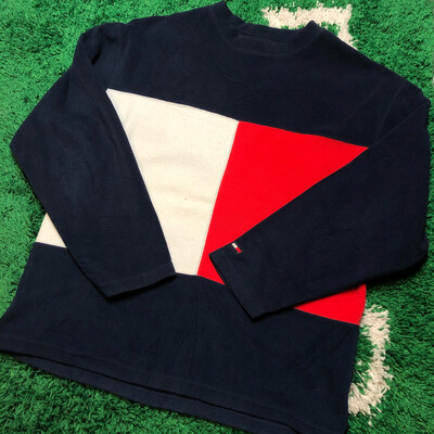 Tommy Jeans Big Flag Fleece Sweater Size XL