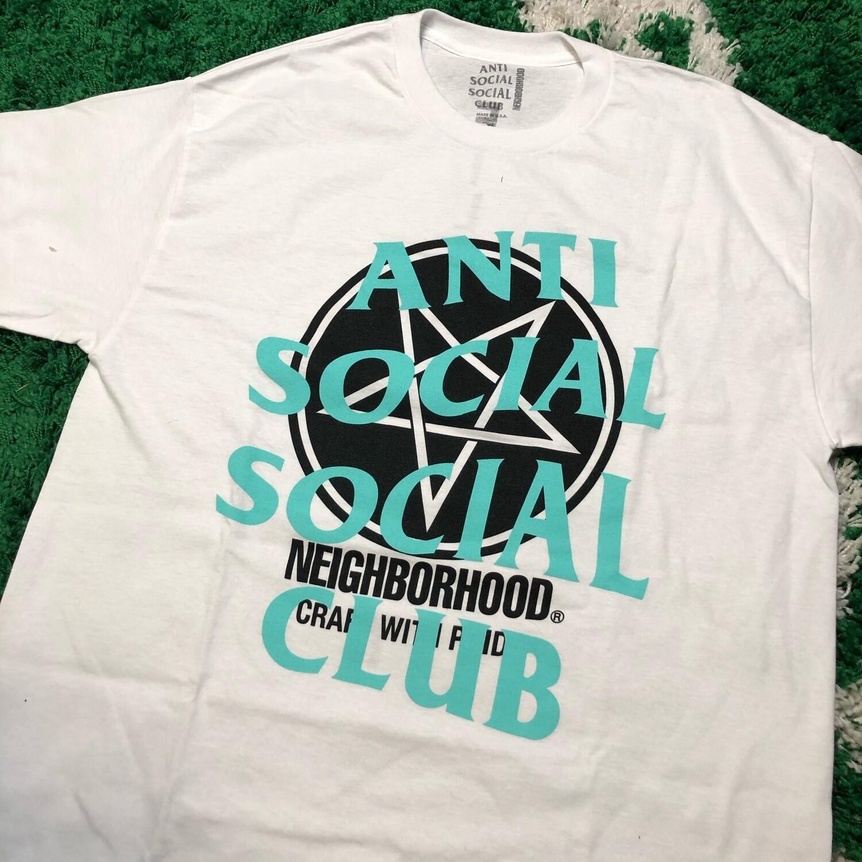 Anti Social Social Club Neighborhood Tee White Size XL