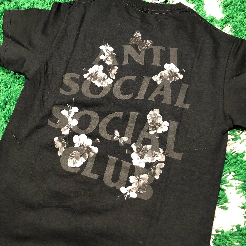 Anti Social Social Club Floral Tee Black Size Small