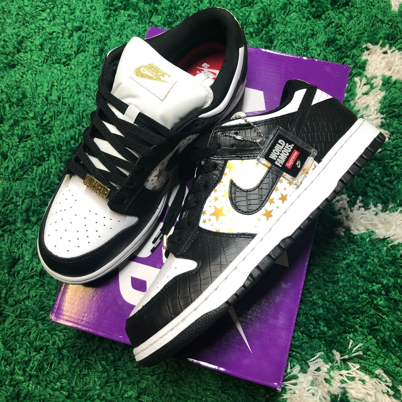 Nike SB Dunk Low Supreme Stars Black Size 9.5