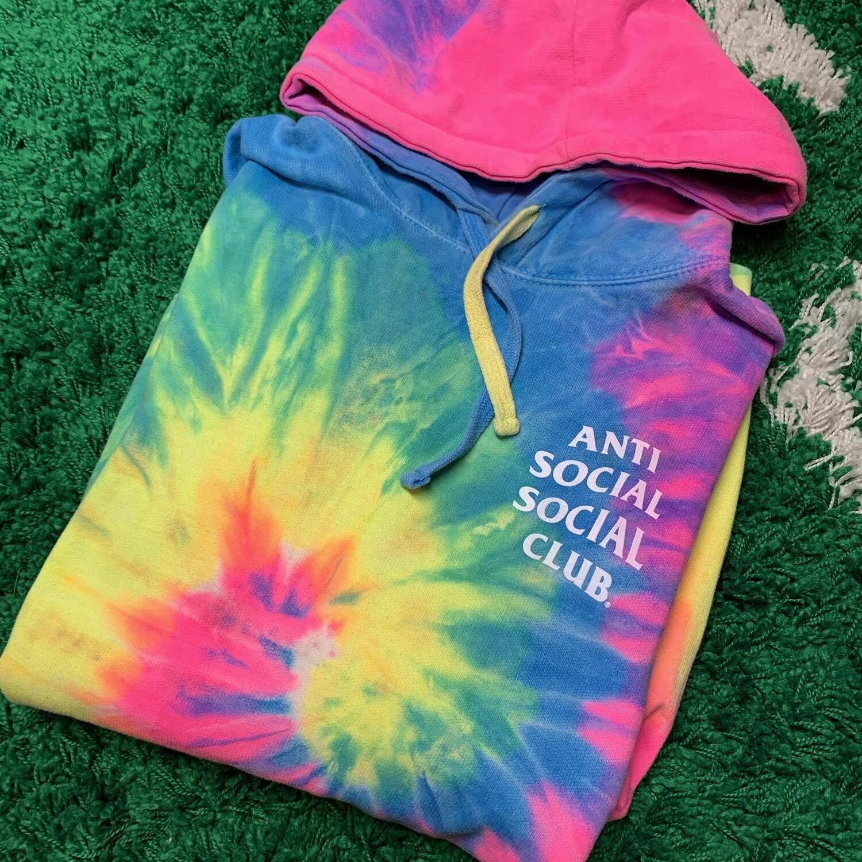 Anti Social Social Club Tie Dye Hoodie Size Large