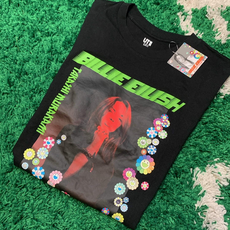 Billie Eilish Flower Photo T-Shirt Size Small (W)