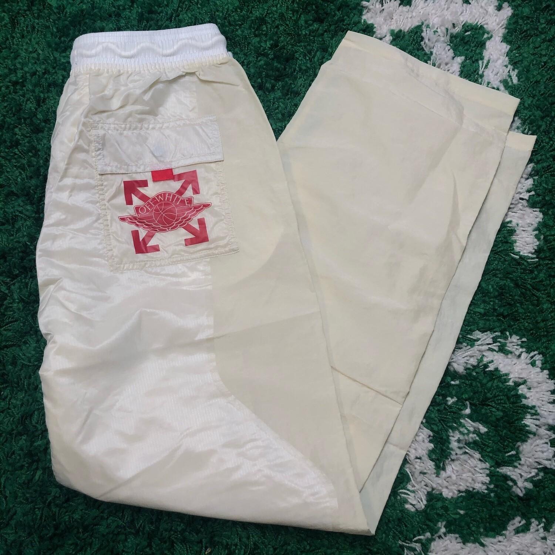 OFF-WHITE x Jordan Woven Pants White Size Large
