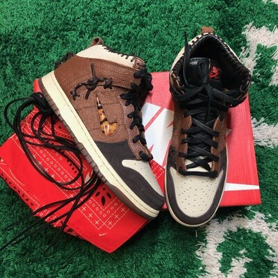 Nike Dunk High Bodega Legend Fauna Brown Size 9