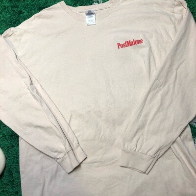 Post Malone Tour Long Sleeve Tan Size XL